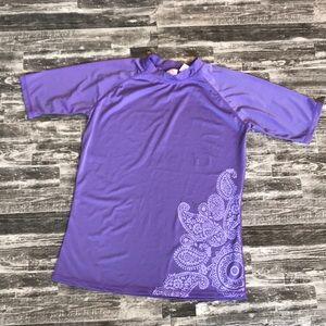 Rash Guard swim top shirt Kanu large